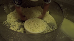Filling molds with Cheese Curd - stock footage