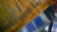 Corn grain in separator device under processing, industrial equipment. Stock Footage