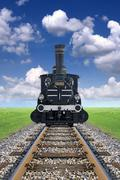 Old locomotive Stock Illustration