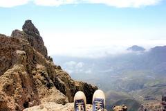 over the precipice - stock photo
