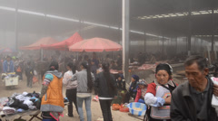 People are gathering and going to sell their agricultural products Stock Footage