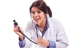 comedy nurse - stock photo