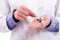 Pills close up Stock Photos