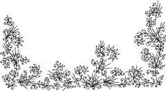 Stock Illustration of floral border