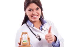 young doctor doing job - stock photo