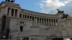 Vittoriano Monument with Tilt - stock footage