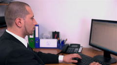 White-collar Worker Looking At Time Stock Footage