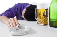 Stock Photo of alcohol and smoking addiction