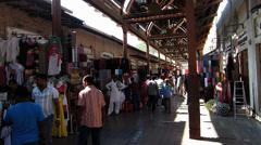 Time Lapse Dubai Blu Dubai old town Souq market UAE Stock Footage