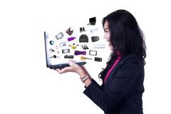 Stock Illustration of business online products