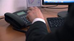 Picking Phone At Work Receiving Negative Information Stock Footage