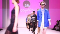 Two Percent presents catwalk during Hong Kong Fashion Week Haute Couture show Stock Footage