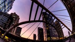 4K Timelapse cityscape bangkok metropolis at twilight. - stock footage