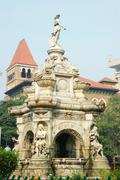 Famous landmark of mumbai (bombay) - flora fountain ,india Stock Photos