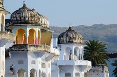 Beautiful hindu architecture of pushkar -  one of seven sacred cities,india Stock Photos
