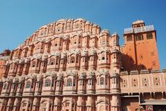 Hawa mahal, or palace of breeze in jaipur,rajasthan,india, unesco heritage si Stock Photos
