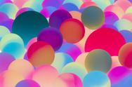 Stock Photo of illuminated bicolor balls background