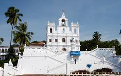 our lady of the immaculate conception church - north goa,portuguese india - stock photo