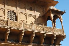 Old jaisalmer ,city museum in thar desert, famous unesco heritage site,India Stock Photos
