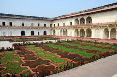 angoori bagh or garden of grapes,agra fort,india - stock photo