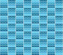 Stock Illustration of blue wave pattern
