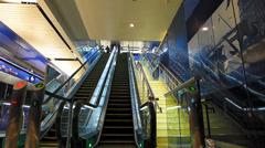 Time Lapse Dubai Metro Bur Dubai Escalator going down UAE Stock Footage