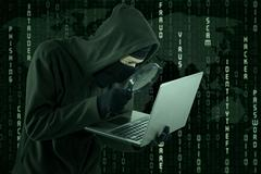 Hacking activity Stock Illustration