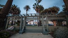 Santa Monica at Sunset Stock Photos