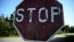 Stop Sign Stock Footage