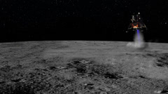 0101 Moon Landing of the Luner Space Carft Apollo 11, HD Stock Footage