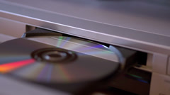 DVD player open and close with disc Stock Footage