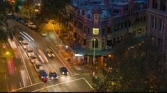 City Pub traffic - stock footage