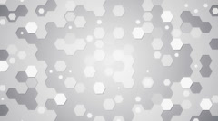 White hexagons loopable background Stock Footage
