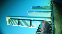 Four Towers Business Area in Madrid, Spain Stock Footage