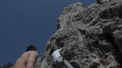 Free climbing Valley Stock Footage