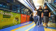 Dubai Metro Bur Dubai passengers commuters get off the train UAE Stock Footage