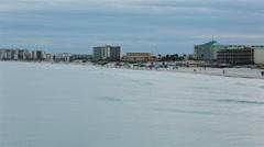 Daytona Beach sand and resort hotels HD 2010 Stock Footage