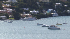 Boats In Hamilton Harbour Stock Footage
