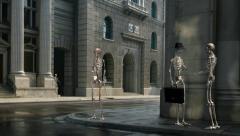 Skeleton City VFX Stock Footage