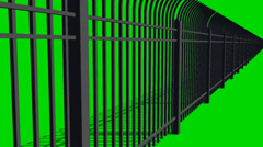 Security Fence camera drive Stock Footage