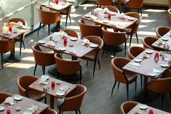 Tables restaurant Stock Photos