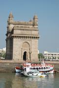 gateway of india,famous landmark,bombay (mumbai),asia - stock photo