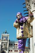 Person in costume at st. mark's square during the carnival of venice,italy Stock Photos
