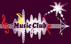 Music club Stock Illustration