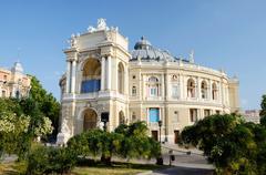 Beautiful opera and ballet house in odessa, ukraine,famous landmark Stock Photos