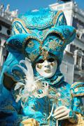 Lady in costume at st. mark's square during the carnival of venice 2011 Stock Photos