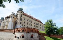 Sigismund iii vasa tower and defensive walls,wawel royal castle,krakow,poland Stock Photos