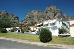 Kalabaka's suburb village of kastraki, meteora,greece Stock Photos