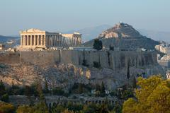 acropolis, famous landmark in athens,greece, balkans,europe - stock photo