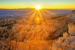 Amphitheater from inspiration point, bryce canyon national park Stock Photos